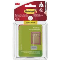 3M Command White Plastic Wire backed picture hanger  Pack of 3