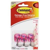 3M Command Pink Plastic Hooks  Pack of 3