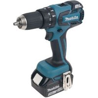 Makita LXT Cordless 18V 3Ah Lithium-ion Brushless Combi drill 2 batteries with DC18SD battery charger & 2x 18V LXT 3.0Ah