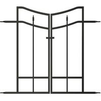 Panacea Steel Arched finials Gate (H)0.82m (W)0.47 m