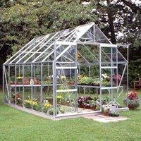 B&Q Metal 8x12 Toughened safety glass greenhouse