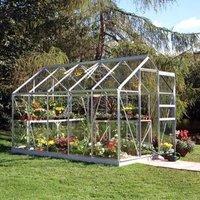 B&Q Premier Metal 6x10 Horticultural glass greenhouse