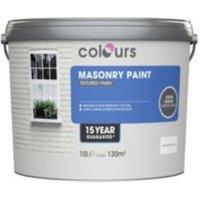 Colours Pure brilliant white Textured Matt Masonry paint 10L