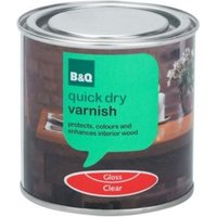 B&Q Clear Gloss Interior varnish 0.25L