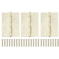 Brass Effect Metal Loose Pin Butt Hinge  Pack of 3