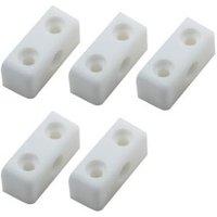 B&Q White Fixing Block  Pack of 100