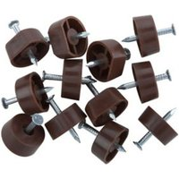 Brown Metal Shelf support (L)15mm Pack of 12.