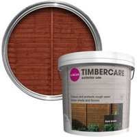 'Colours Timbercare Dark Brown Fence & Shed Wood Stain  5l