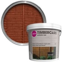 'Colours Timbercare Dark Brown Fence & Shed Wood Stain  9l