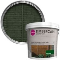'Colours Timbercare Forest Green Shed & Fence Stain 9l