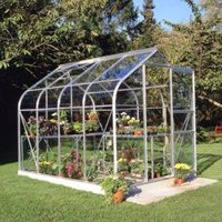 B&Q Metal 6X8 Toughened Safety Glass Greenhouse