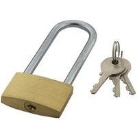 Brass & Steel 4-Pin Tumbler Open Shackle Padlock (W)40mm