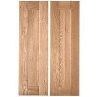 Cooke & Lewis Chesterton Solid Oak Larder door (W)300mm  Set of 2
