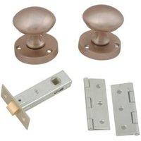 Satin Nickel effect Internal Round Latch Door knob  Set
