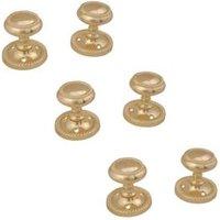 Polished Brass Effect Internal Round Latch Door Knob  3 Set