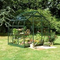 B&Q Metal 6X6 Toughened Safety Glass Greenhouse