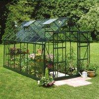 B&Q Metal 8x14 Toughened safety glass greenhouse