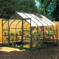 B&Q Metal 8X12 Toughened Safety Glass Greenhouse