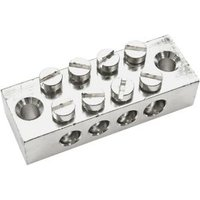 B&Q Silver 4-Way Earthing Block