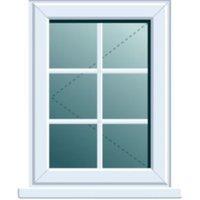 White PVCu LH Side Hung L/H Window (H)1120mm (W)620mm