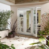 Pre-Finished White Glazed Sliding & Folding Patio Doors  (H)2105mm (W)1805mm