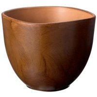 Rounded Square Wood Effect Plant Pot (H)150mm (Dia)200mm