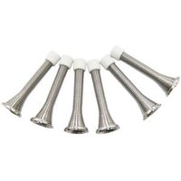 B&Q Carbon Steel Chrome Effect Door Stop Pack of 6.