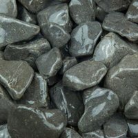 Blooma Black and grey Stone Cobbles  Large 22.5kg Bag