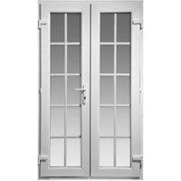 4ft Georgian Clear PVCu External French Door set  (H)2055mm (W)1190mm