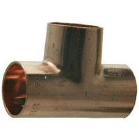 Copper End feed Tee (Dia)15mm Pack of 10