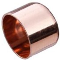 Copper End feed Stop end (Dia)15mm Pack of 2