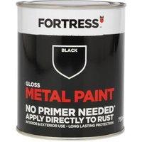 Fortress Black Gloss Metal paint 0.75L