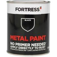 Fortress Black Satin Metal paint 0.75L