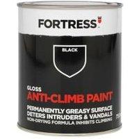 Fortress Black Gloss Anti-climb paint 0.75L