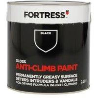 Fortress Black Gloss Anti-climb paint 2.5L