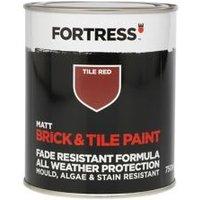 Fortress Tile red Matt Brick & tile paint 750ml