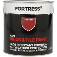 Fortress Tile red Matt Brick & tile paint 2.5L