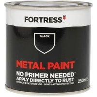 Fortress Black Gloss Metal paint 0.25L