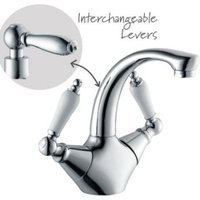 Cooke & Lewis Timeless 2 Lever Basin mixer tap