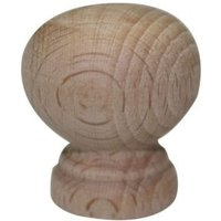 B&Q Beech Unfinished Round Furniture Knob (L)30mm  Pack of 10