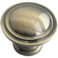 B&Q Brass Effect Round Furniture Knob  Pack of 6