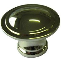 B&Q Polished Brass Effect Round Furniture Knob  Pack of 6
