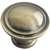 B&Q Brass Effect Round Furniture Knob  Pack of 6