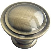 B&Q Polished Gold Effect Round Internal Knob Cabinet Knob