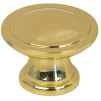 B&Q Brass Effect Round Internal Knob Furniture Knob