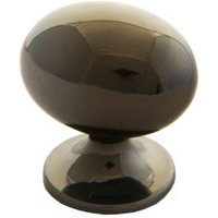 B&Q Polished Gold Effect Oval Internal Knob Cabinet Knob