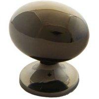 B&Q Polished Gold Effect Oval Internal Knob Cabinet Knob