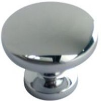 B&Q Chrome effect Round Internal Knob Furniture knob (D)28.7 mm at B&Q DIY