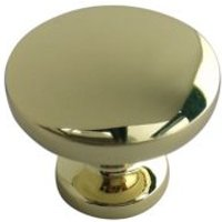 B&Q Brass Effect Round Internal Knob Furniture Knob at B&Q DIY