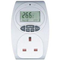B&Q White 1-Gang 240V 13A Temperature Controlled Adaptor